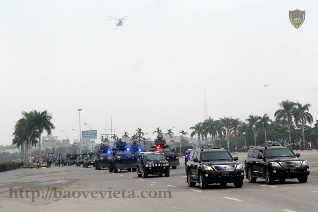 Lực lượng tham gia bảo vệ Đại hội Đảng lần thứ XII