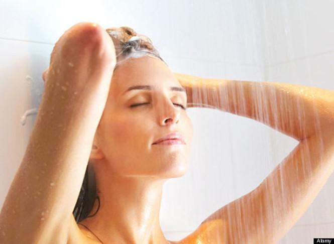 Tắm sạch sẽ trước khi xông hơi