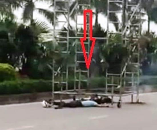 Nhân viên bảo vệ bị điện cao thế giật tử vong khi thay bóng đèn